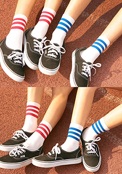 Seoul Style Striped Socks