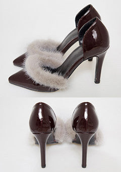 Love Story Fur Stiletto Heels