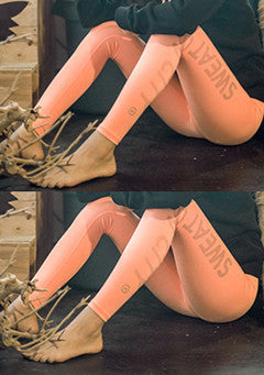 Sweat Band Leggings Peach