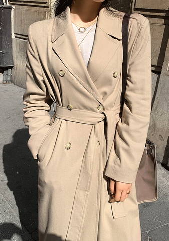 On Point Check Trench Coat