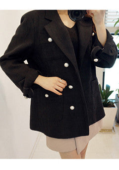Overfit Pearl Button Jacket