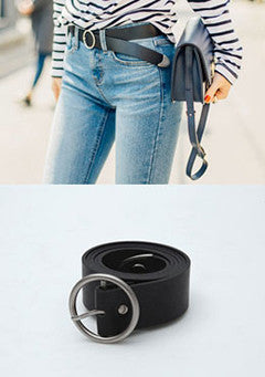 Circle Point Basic Belt - Black