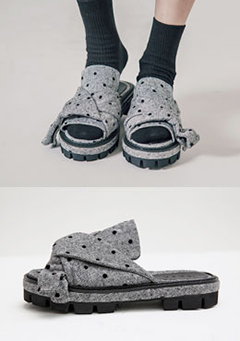 Platformed Neat Knot Slippers