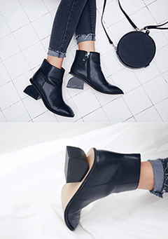 Semi Circle Heel Ankle Boots