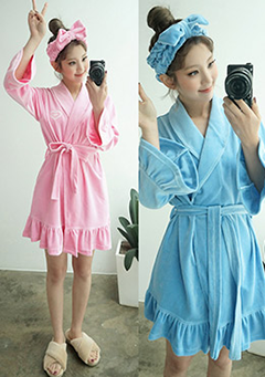 Sugar Island Frill Bath Robe