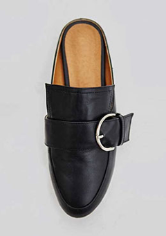 Large Strap and Buckle Mules