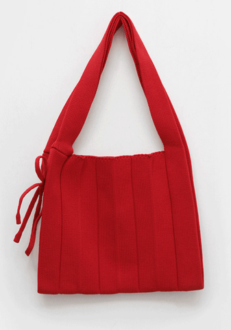 Unusual Knit Pleated Bag