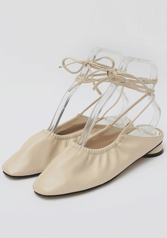 Tiny Ballerina Lace-Up Flat Shoes