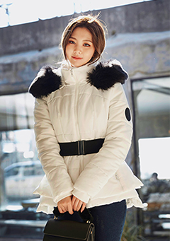 Lovin' It Fur Hooded Padded Coat