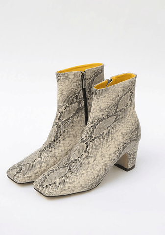 Fake Python Ankle Boot