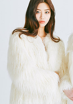 Polar Bear Long Fur Jacket