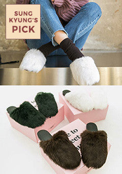 Real Rabbit Fur Slippers