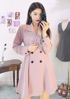 A-Line Short Coat Dress