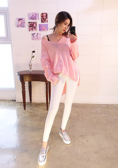 Pastel Cloud Skinny Spring Pants