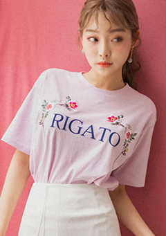 RIGATO Floral Print Tee