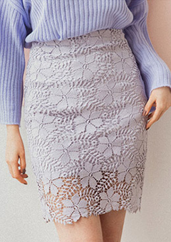 For The Good Time H-Line Lace Skirt