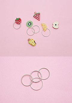Fruit Loop Ring Set