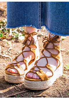 Be Seen Wedge Sandals