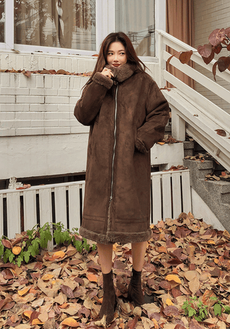 Deep Pocket Long Aviator Coat