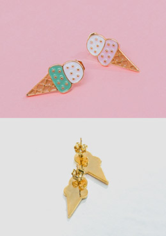 Double-Deck Ice Cream Earrings