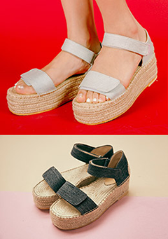 Throwaway Heart Wedged Sandals