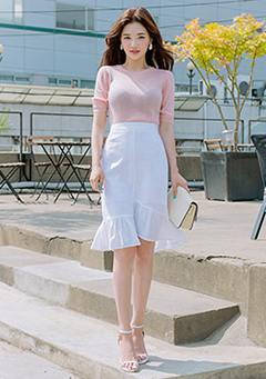 On Clouds Today Sleeveless + Skirt Set