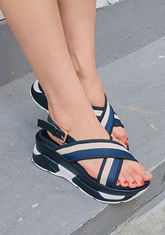 Go For Something New Wedged Sandals