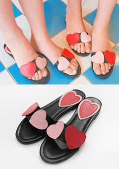 Free Heart Slippers