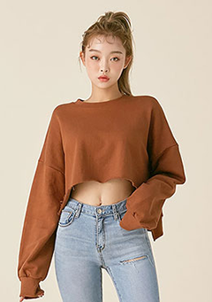 Not Like This Crop Pullover