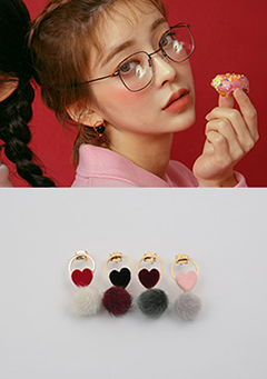 [CHUU] Squishably Lovey Dovey Earrings