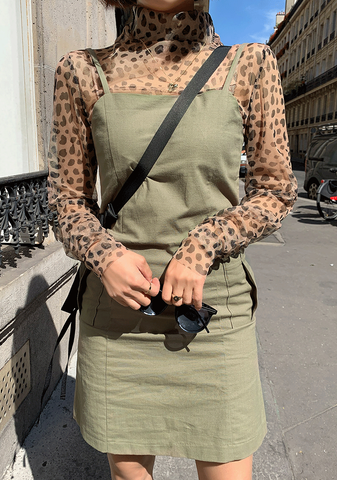 Leopard See-Through Blouse