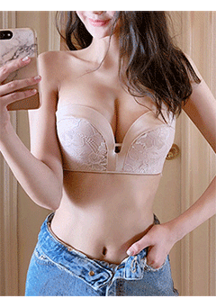 Basic And Lacy Push Up Bra Top
