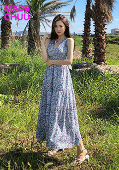 [CHUU MADE] Blue Waikiki Dress