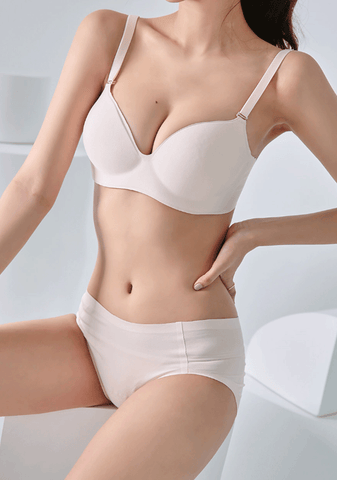 Neutral Color Bra + Panties Set
