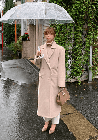 Formal Straight Fit Wool Coat