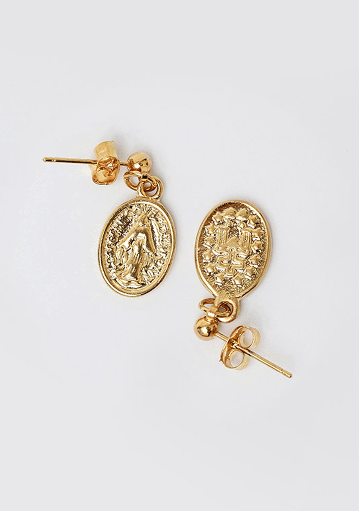 Virgo Medallion Earrings