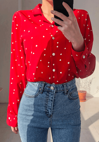 Heart Sweet Dotted Blouse