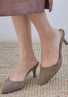 Suede Stiletto Mule