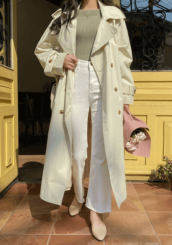 Sheldon Double Breast Trench Coat