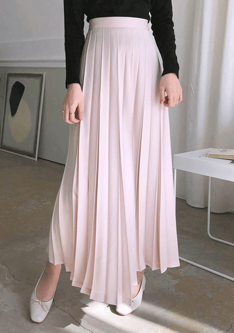 Spring Pastel Pleated Skirt