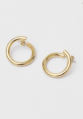 Unique Gold Circle Earrings