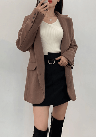 Boyish Button Wool Jacket