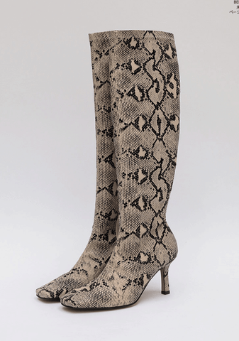 Chic Python Pointed Boots
