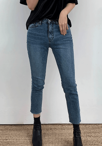 Blue Slim Straight Jeans