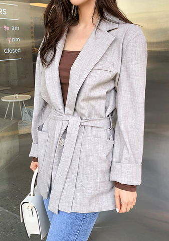 On The Clock Belted Blazer