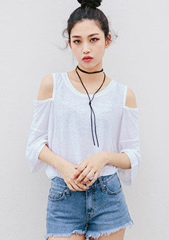 Cut-Out Shoulder Tee