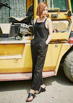 Square Linen Jumpsuit