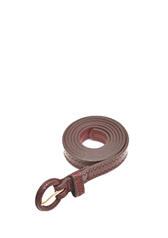 Zigzag Stitch Round Belt