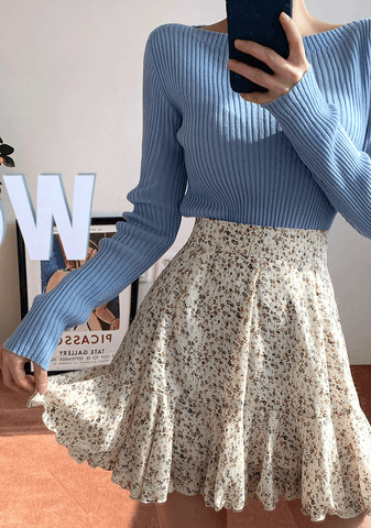 Falling In Spring Frill Skirt