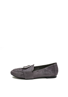 Ring Point Faux Sued Loafer